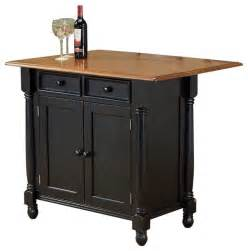 Kitchen Island Carts Sunset Trading Drop Leaf Island Antique Black Cherry