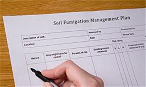 soil management plan template soil fumigant toolbox us epa