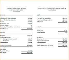 annual financial statement template report images