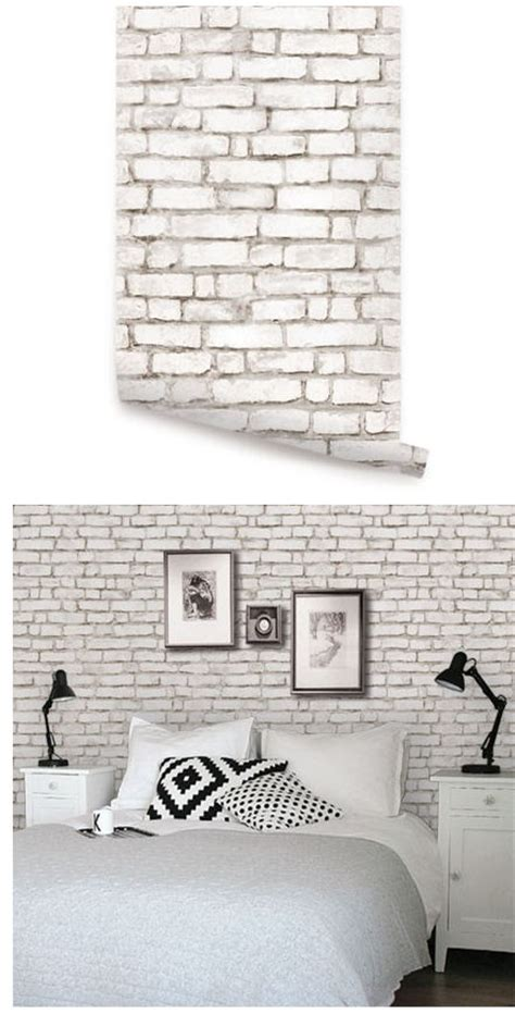 wall sticker outlet brick white peel and stick wallpaper