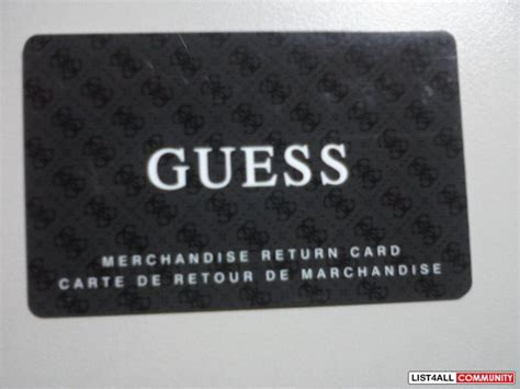Guess Gift Cards - guess gift card 40 selling for 30 tcfs list4all