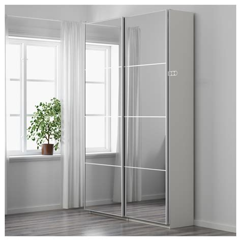 ikea armoire with mirror pax wardrobe white auli mirror glass 150x44x236 cm ikea