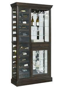 Curio Cabinet Brands Clockway Pulaski Aberdeen Wine Curio Solid Oak In