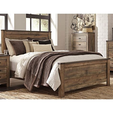 rustic casual contemporary king size bed trinell rc willey furniture store