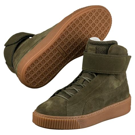womens platform mid ow mid top sneakers olive