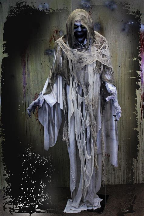 haunted house props 7ft ghost halloween haunted house prop
