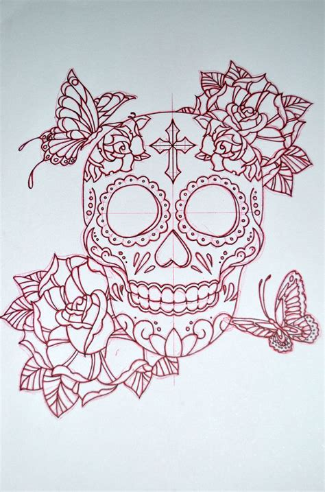 skull and star tattoo designs 1000 ideas about skull butterfly on