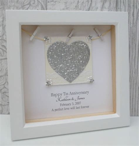 Wedding Anniversary 10th by 10th Anniversary Gift 10th Wedding Anniversary Gift Tin