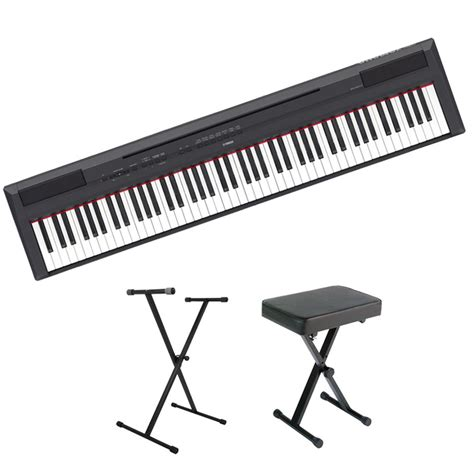 piano keyboard stand and bench yamaha p115 88 key digital piano value pack with keyboard