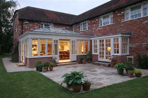 Luxury Home Decor Ideas Red Brick Home Orangery Extension Country Exterior