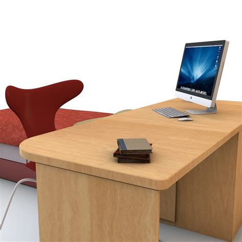 3ds max bed desk set