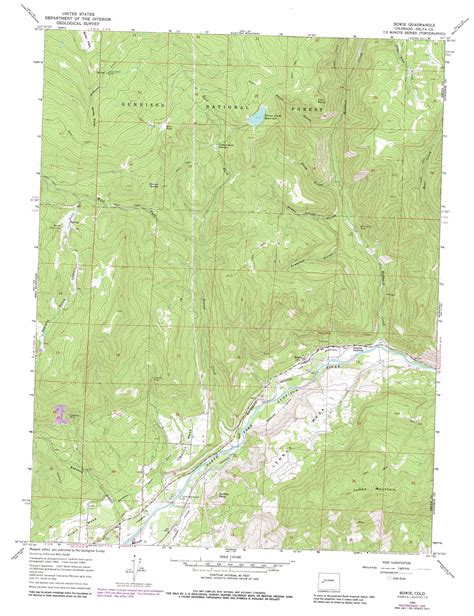 where is bowie on a map bowie topographic map co usgs topo 38107h5