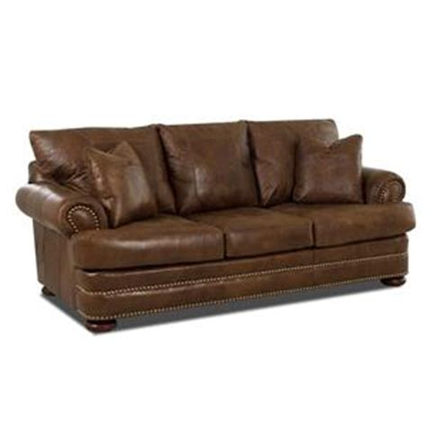 Klaussner Montezuma Leather Studio Sofa With Rolled Arms Klaussner Leather Sofa Review