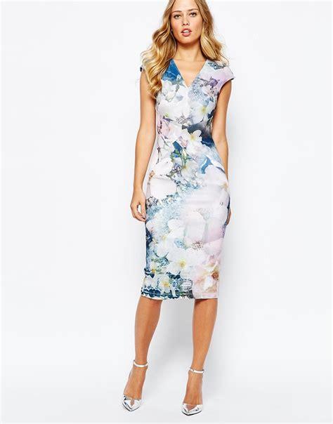 13492 Blue Pink Flower Dress ted baker navy blue floral dress