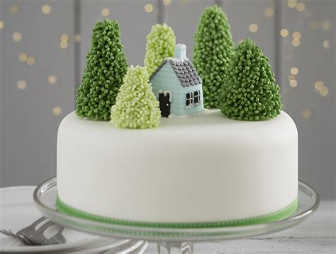 Simple Home Decoration For Birthday how to make a snowy forest cake hobbycraft blog