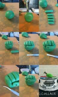 my tutorial for hulk hand made with fondant amp tylo powder
