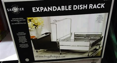 Dish Rack Costco by Costco Clearance Sabatier S S Expandable Dish Rack 24 97 Frugal Hotspot
