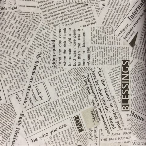 printable fabric paper uk newsprint fabric windham fabrics carrie boomston one yard
