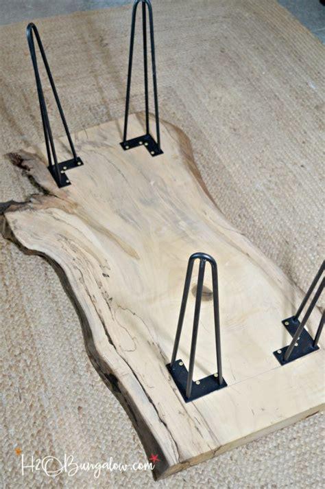 diy table legs buy hairpin leg diy live edge wood coffee table h20bungalow