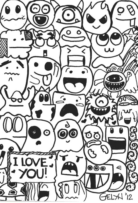 doodle characters doodle on