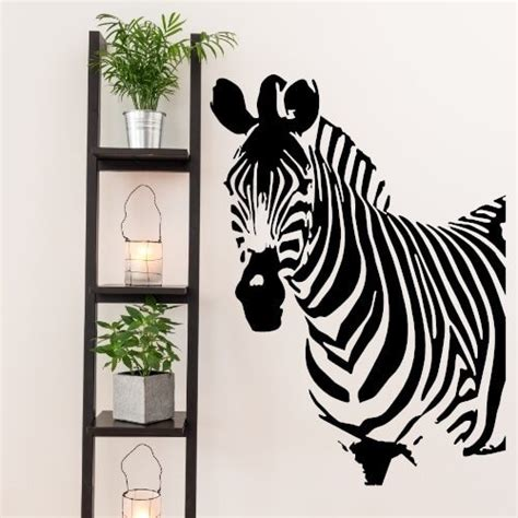 zebra wall sticker zebra wallsticker flot wallstickers med et zebra hoved