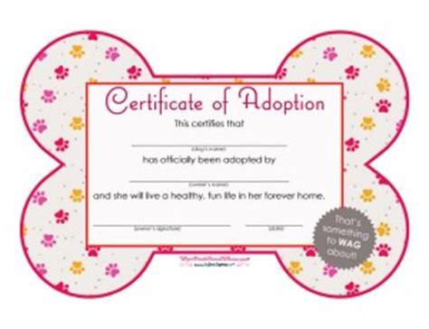 free printables dog adoption certificates big dot of