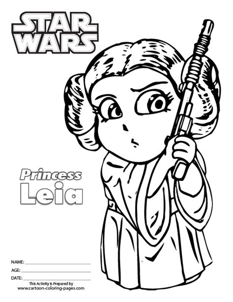 Free Coloring Pages Of Princess Leia Star Wars Princess Leia Coloring Printable