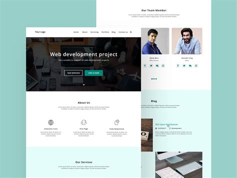 free psd file web design home page design