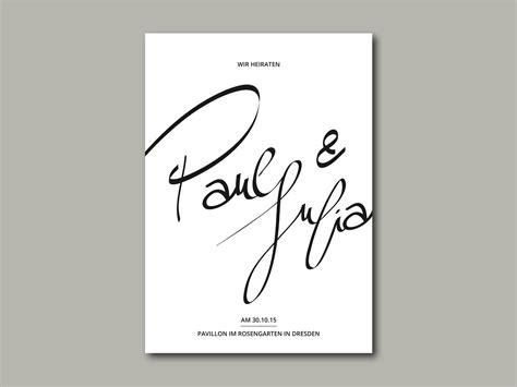 Hochzeitseinladung Lettering by Hochzeitseinladung Ink Inliebe Papeterie