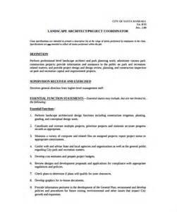 landscape description 10 project coordinator description templates free