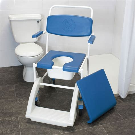 Used Commode Chair - mobile shower commode chair vat exempt nrs healthcare