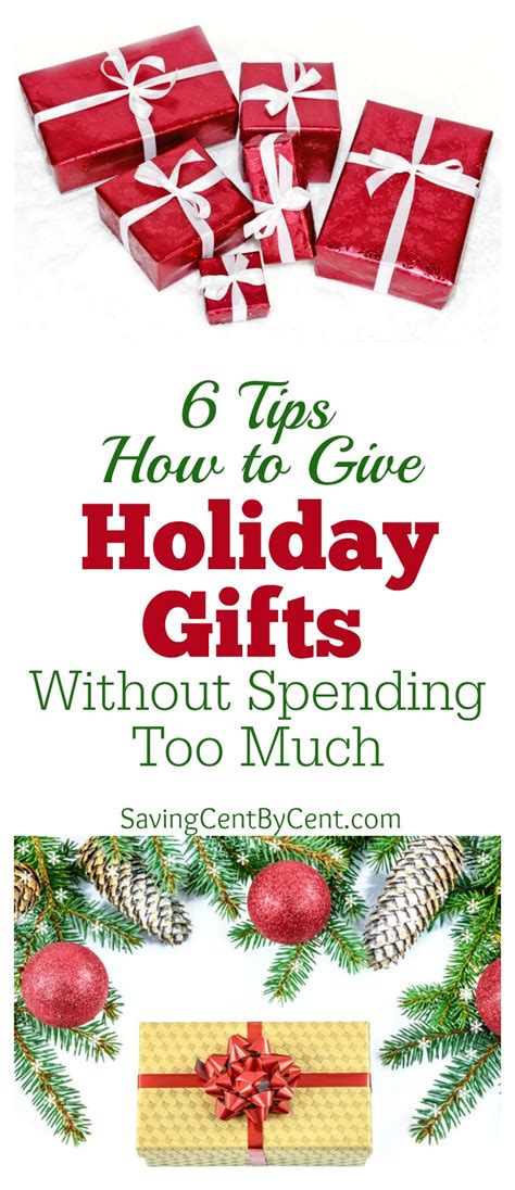 6 tips how to give holiday gifts without spending too much