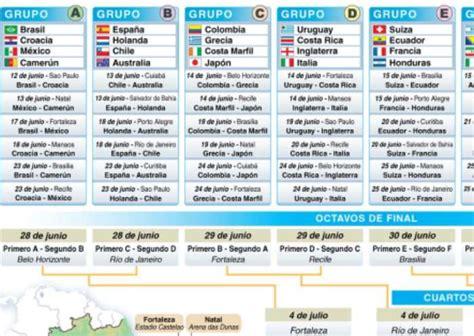 calendario deportivo de tv deportesonline calendario mundial brasil 2014