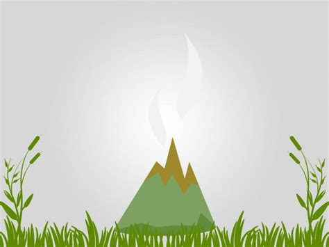 volcano powerpoint template pin by ppt backgrounds on design