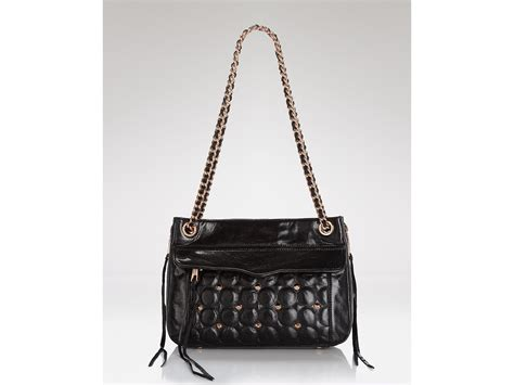rebecca minkoff swing bag black lyst rebecca minkoff shoulder bag swing leather in black