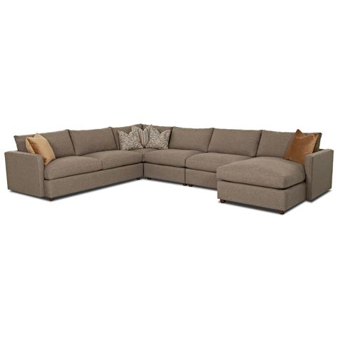 ls for sectional couches klaussner leisure casual sectional sofa with raf chaise