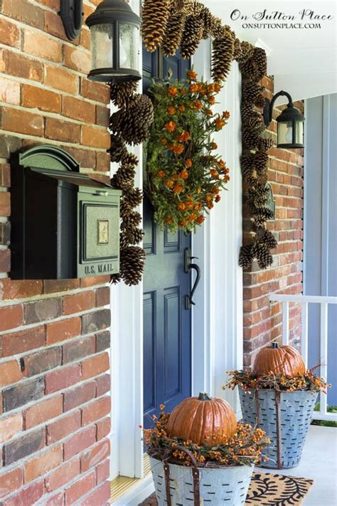 front porch decor ideas easy diy fall porch decor ideas on sutton place
