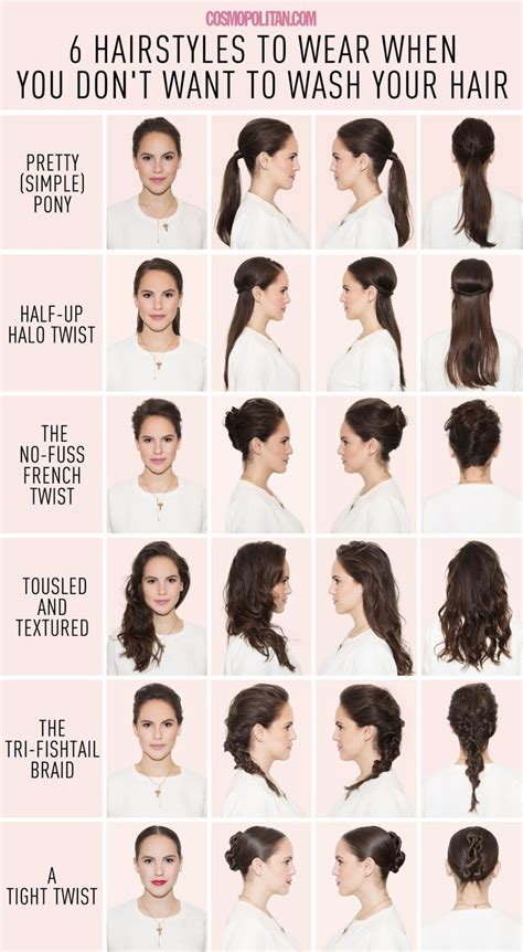 easy wash and wear hairstyles 6 hairstyles for when you just can t wash your hair