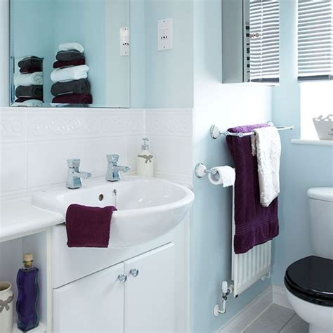 pale blue bathrooms pale blue and white bathroom decorating housetohome co uk