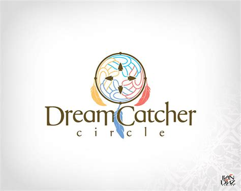 logo design for dreams dream catcher circle logo on behance