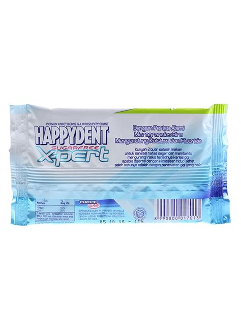 Kompor Listrik Klorofil happydent chewing gum x pert peppermint pck 11 2g