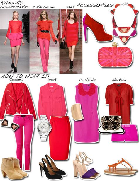 what goes good with pink clash course hot pink red huffpost