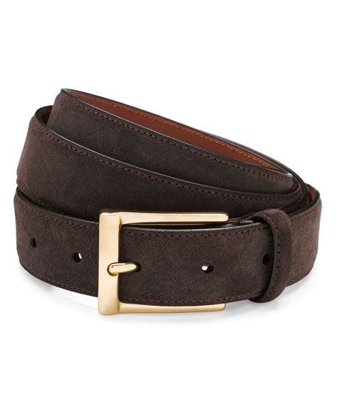 brothers suede dress belt in brown for lyst
