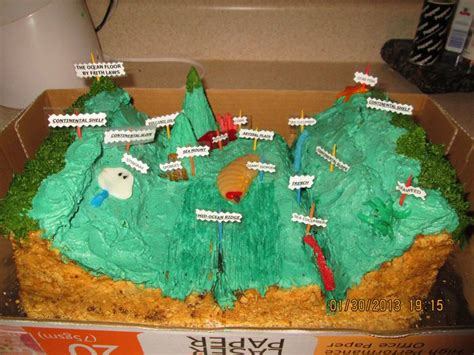 floor cake for science project 5th grade