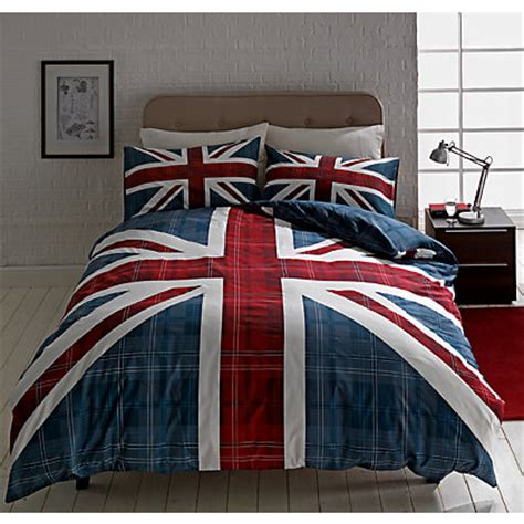 union jack bedding check union jack multicoloured bedding set single