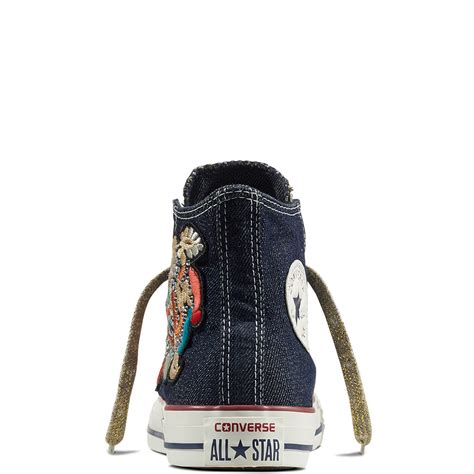 Patchwork Converse - chuck all flower patchwork denim converse gb