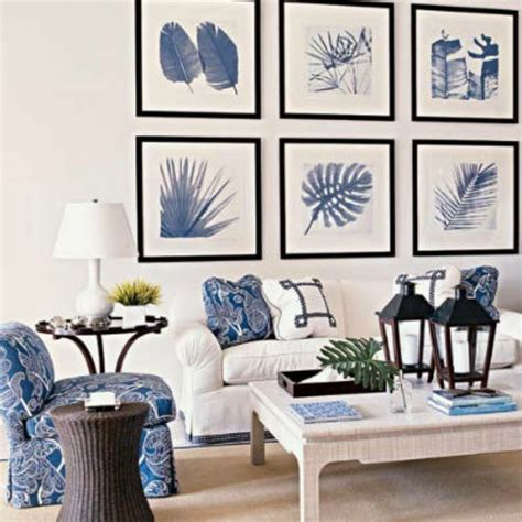 Blue And White Living Room Decorating Ideas Inspirations On The Horizon Coastal Living Rooms