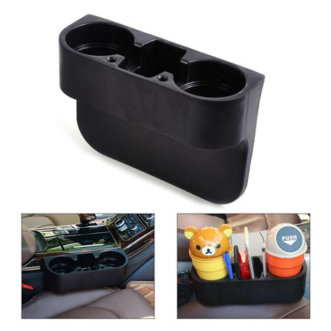 With Cup Holders by Black Universal Car Seat Seam Wedge Cup Drink Holder Seat