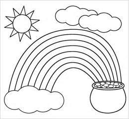coloring pages printable rainbow clouds sketch template
