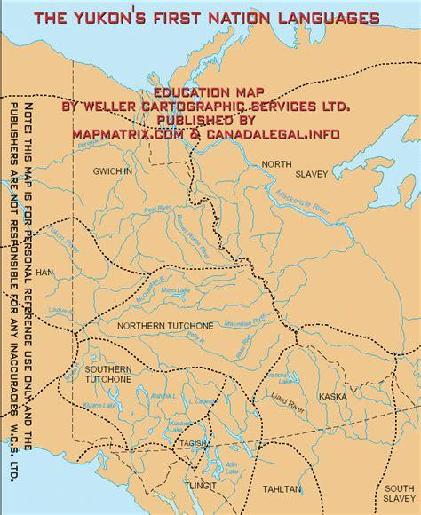yukon map map of yukon s nations languages historic groups